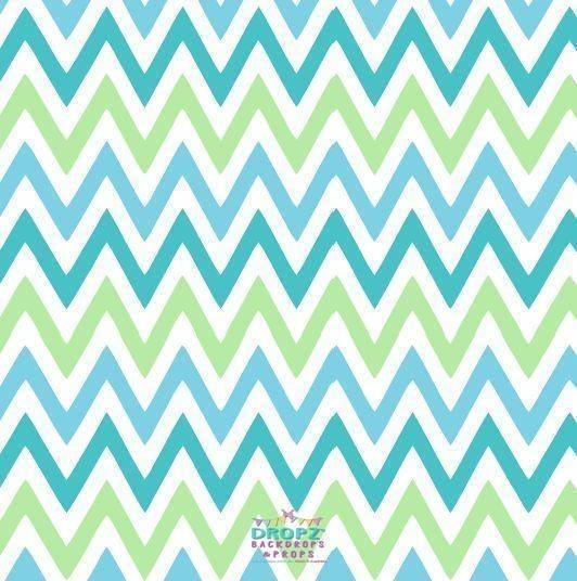 Backdrop - Blue Lime Chevron