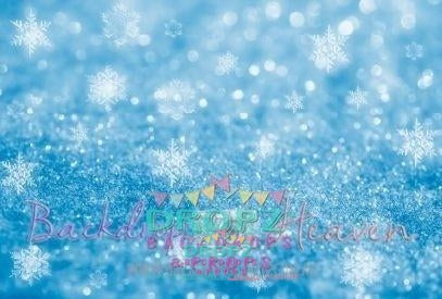 Backdrop - Blue Snowflake Bling