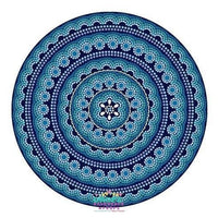 Backdrop - Blue Teal Mandala