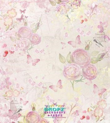 Backdrop - Butterfly Roses