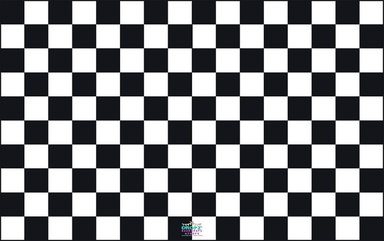 Backdrop - Checkered Black White