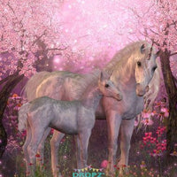 Backdrop - Cherry Blossom Horses