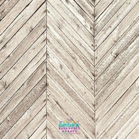 Backdrop - Chevron Floorboards