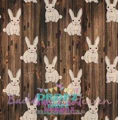 Backdrop - Chocolate Easter Rabbits Wood