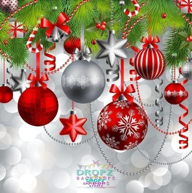 Christmas In Australia Background.Christmas Baubles