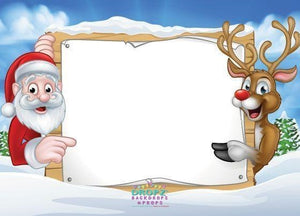 Backdrop - Christmas Greeting Sign Backdrop