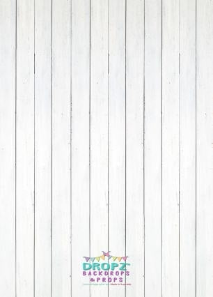 Backdrop - Classic White Wooden Floor Thin Planks