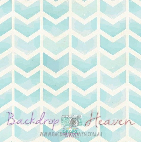 Backdrop - Creamy Bluebell Chevron