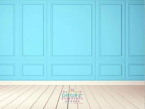 Backdrop - Custom Made In Your Color Choice Panel Wall & Wood Floor