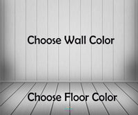 Backdrop - Custom Made In Your Color Choice - Wooden Panel Wall & Floor