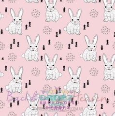 Backdrop - Easter Rabbits Pink