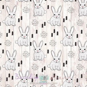 Backdrop - Easter Rabbits Wood