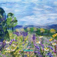 Backdrop - Felted Floral Field