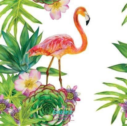 Backdrop - Flamingo Garden
