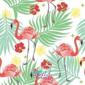 Backdrop - Flamingo Hibiscus