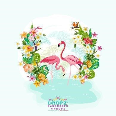 Backdrop - Flamingo Paradise