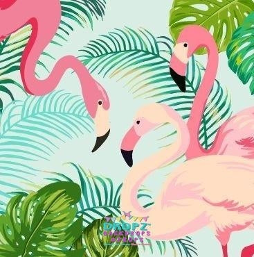 Backdrop - Flamingo Party Backdrop