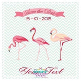 Backdrop - Flamingo Party Invitation