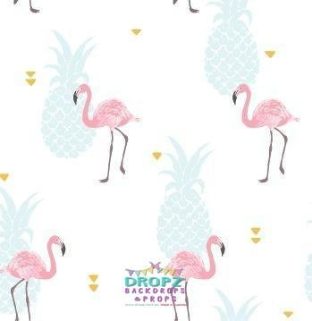 Backdrop - Flamingo Pineapple Party