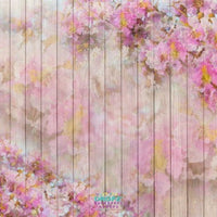 Backdrop - Floral Planks