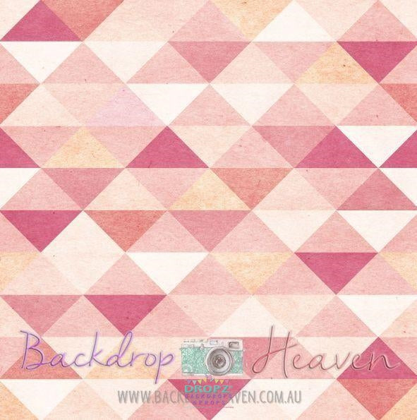 Backdrop - Geometric Peachy Pink Triangles