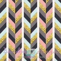 Backdrop - Glittery Gold Chevron Braid