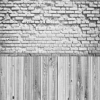 Backdrop - Light Grey Wood & Brick