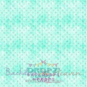 Backdrop - Mint & Grey Spots
