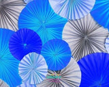 Backdrop - Paper Rosettes Blue