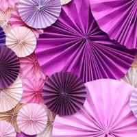Backdrop - Paper Rosettes Orchid