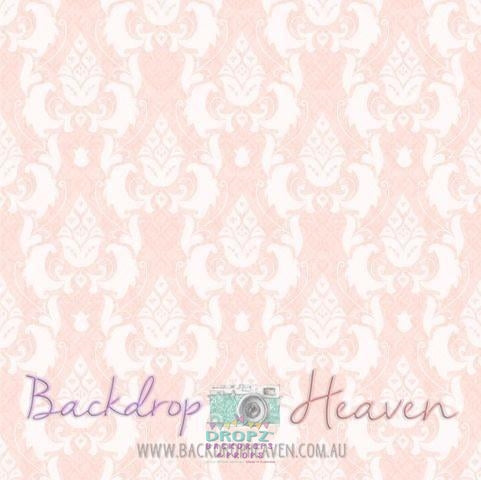 Backdrop - Pastel Pink Damask