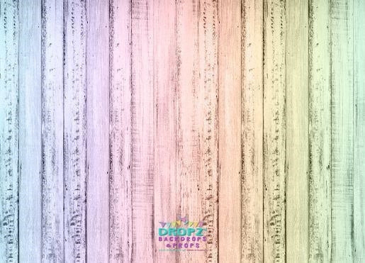 Backdrop - Pastel Rainbow Wood
