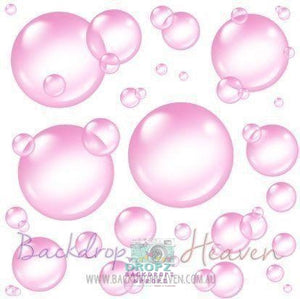 Backdrop - Pink Bubbles