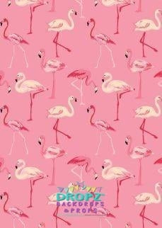 Backdrop - Pink Flamingo's