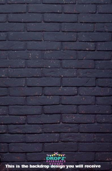 Backdrop - Plain Dark Bricks