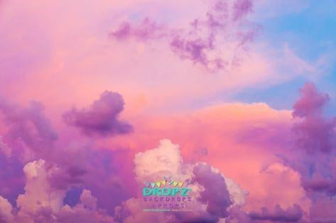 Backdrop - Pretty Purple Clouds