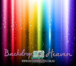 Backdrop - Rainbow Glitter Stripes