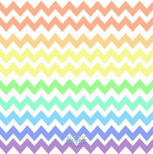 Backdrop - Rainbow Pastel Chevron 4