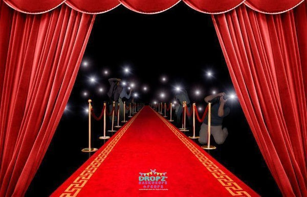 Backdrop - Red Carpet Papparazzi Backdrop