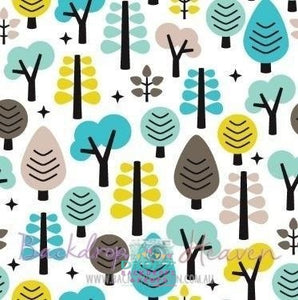 Backdrop - Retro Baby Woodland
