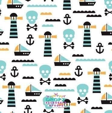 Backdrop - Retro Pirate - Personalised In Any Colors