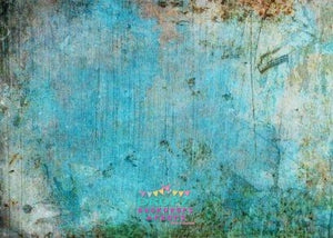 Backdrop - Rusted Aqua Grunge