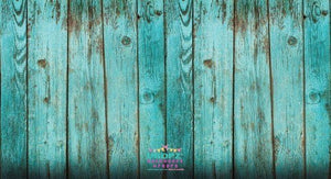 Backdrop - Shabby Teal Wooden Planks