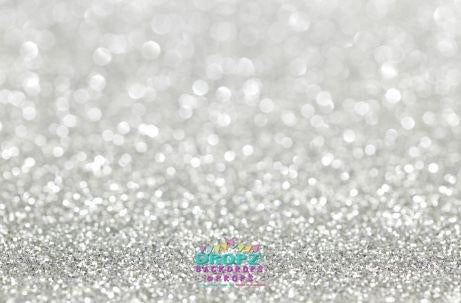 Backdrop - Silver Glitter