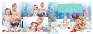 Backdrop - Snowflake Garland Blue