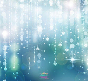 Backdrop - Snowflake Garland Teal