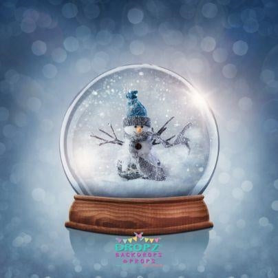 Backdrop - Snowman Globe Christmas Backdrop