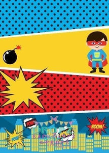 Backdrop - Super Hero Cartoon