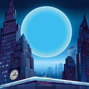 Backdrop - Super Hero Moonlight City