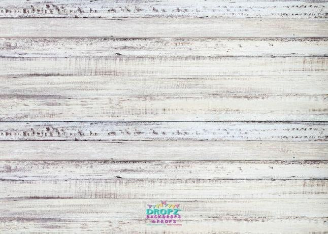 Backdrop - Thin White Wash Painted Wood